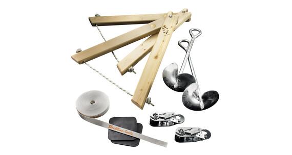 Slackline-Tools Classic Frameline Slackline 15 m grå/hvid